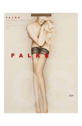 Женские чулки invisible deluxe 8 FALKE белого цвета, арт. 41560 | Фото 1