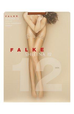 Женские чулки shelina 12 FALKE бежевого цвета, арт. 41526 | Фото 1