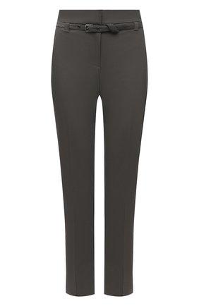 Женские хлопковые брюки BRUNELLO CUCINELLI хаки цвета, арт. M0F70P7521 | Фото 1