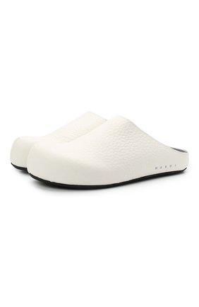 Женские кожаные сабо fussbett MARNI белого цвета, арт. SBMS003900/P3933 | Фото 1
