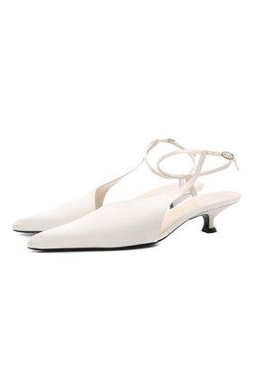 Женские текстильные туфли seville KHAITE белого цвета, арт. F3009-452/SEVILLE | Фото 1