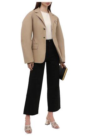 Женские кожаные босоножки  GUCCI светло-бежевого цвета, арт. 645404/C9D00   Фото 2