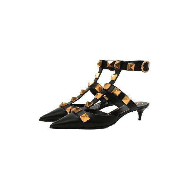 Кожаные туфли Roman Stud Runway Valentino