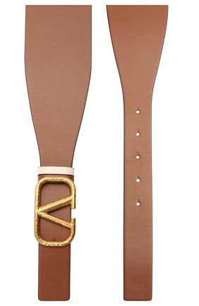 Женский кожаный пояс  VALENTINO коричневого цвета, арт. VW0T0V50/VNC | Фото 2 (Кросс-КТ: Широкие)