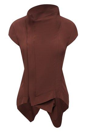 Женский жакет RICK OWENS коричневого цвета, арт. RP21S3730/CC   Фото 1