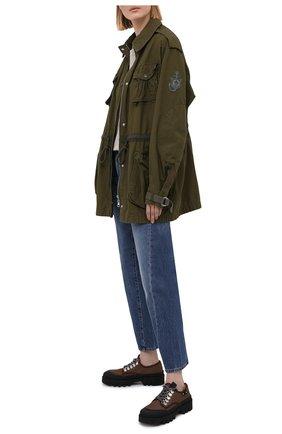 Женская хлопковая куртка 1 moncler jw anderson MONCLER GENIUS хаки цвета, арт. G1-09E-1A000-05-M1145 | Фото 2