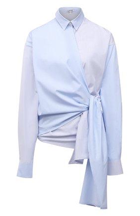 Женская хлопковая рубашка LOEWE голубого цвета, арт. S540Y07X35 | Фото 1