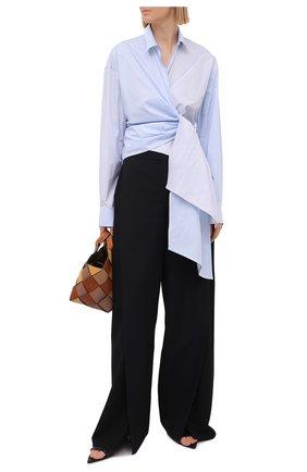 Женская хлопковая рубашка LOEWE голубого цвета, арт. S540Y07X35 | Фото 2