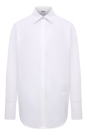 Женская хлопковая рубашка MSGM белого цвета, арт. 3042MDE105X 217307 | Фото 1