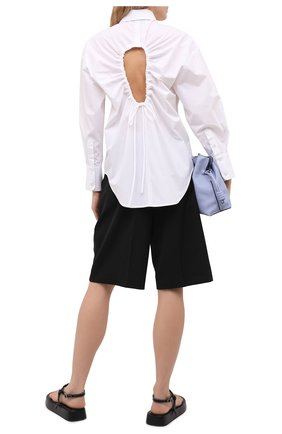 Женская хлопковая рубашка MSGM белого цвета, арт. 3042MDE105X 217307 | Фото 2