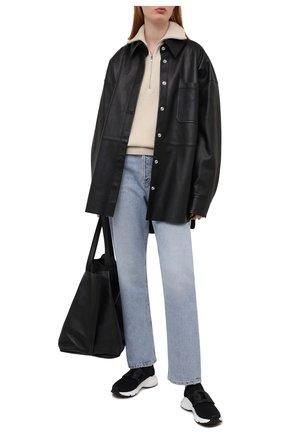 Женские текстильные кроссовки TOD'S черного цвета, арт. XXW54C0EM60Q6L | Фото 2