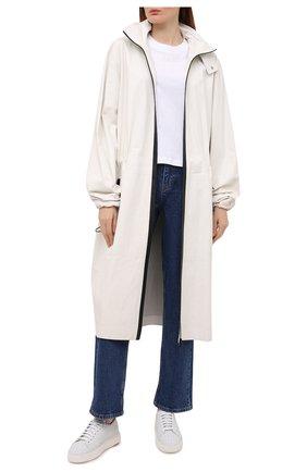 Женские кожаные кеды SANTONI белого цвета, арт. WBCD60821BARCCSYI20 | Фото 2