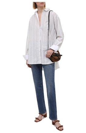 Женские кожаные мюли SANTONI коричневого цвета, арт. WHIQ59430HA2TPPTC31 | Фото 2