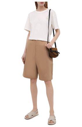 Женские кожаные сандалии SANTONI светло-серого цвета, арт. WHYE59413FPGTUDYE40 | Фото 2