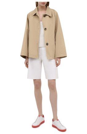 Женские кожаные кеды keating MICHAEL MICHAEL KORS белого цвета, арт. 43S1KEFS4D | Фото 2