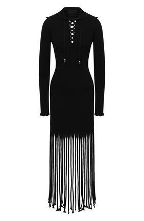 Женское платье из вискозы ALANUI черного цвета, арт. LWHI033S21KNI001 | Фото 1