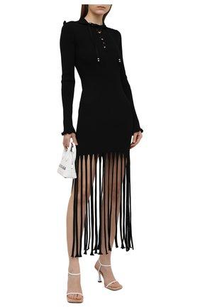 Женское платье из вискозы ALANUI черного цвета, арт. LWHI033S21KNI001 | Фото 2