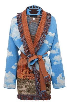Женский шерстяной кардиган ALANUI разноцветного цвета, арт. LWHB044S21KNI011   Фото 1