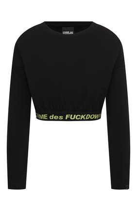 Женский хлопковый топ COMME DES FUCKDOWN черного цвета, арт. CDFD1467 | Фото 1