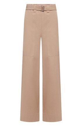 Женские хлопковые брюки JOSEPH бежевого цвета, арт. JF005343 | Фото 1