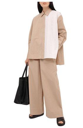Женские хлопковые брюки JOSEPH бежевого цвета, арт. JF005343 | Фото 2