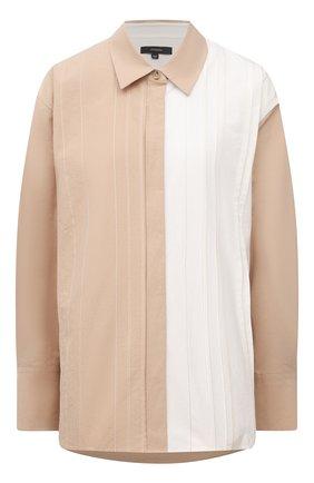 Женская хлопковая рубашка JOSEPH бежевого цвета, арт. JF005342 | Фото 1
