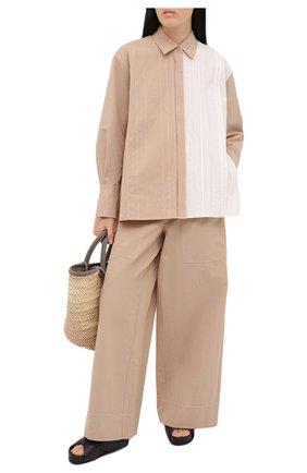 Женская хлопковая рубашка JOSEPH бежевого цвета, арт. JF005342 | Фото 2