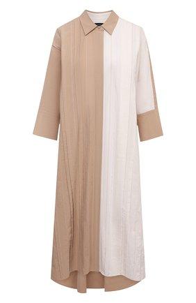 Женское хлопковое платье JOSEPH бежевого цвета, арт. JF005341   Фото 1