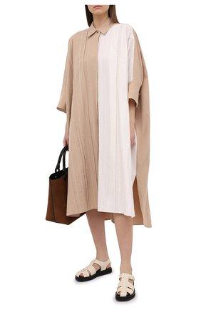 Женское хлопковое платье JOSEPH бежевого цвета, арт. JF005341   Фото 2