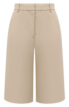 Женские кожаные шорты JOSEPH светло-бежевого цвета, арт. JF005264 | Фото 1