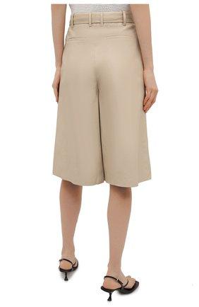 Женские кожаные шорты JOSEPH светло-бежевого цвета, арт. JF005264 | Фото 4