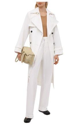 Женские хлопковые брюки MAISON MARGIELA белого цвета, арт. S51KA0535/S53687 | Фото 2