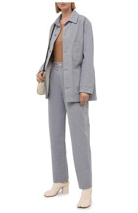 Женская джинсовая куртка MAISON MARGIELA светло-голубого цвета, арт. S29AM0380/S30754 | Фото 2