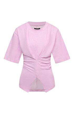 Женская хлопковая футболка ISABEL MARANT светло-розового цвета, арт. TS0788-21E033I/S0Y0NA | Фото 1