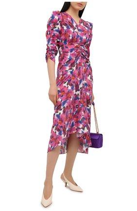 Женское платье из вискозы ISABEL MARANT розового цвета, арт. R01998-21E026I/ALBISD | Фото 2