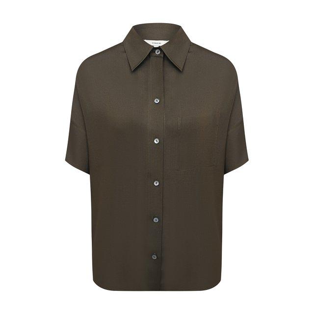 Рубашка из шелка и вискозы Vince