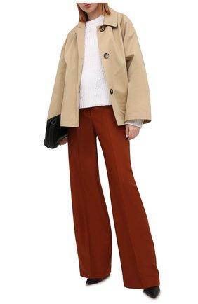 Женский хлопковый свитер VINCE белого цвета, арт. V732978702 | Фото 2