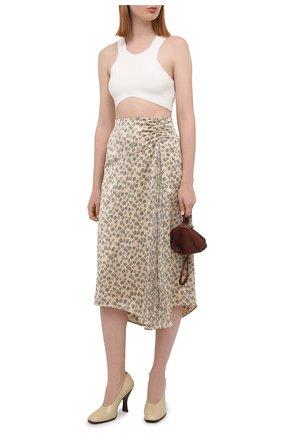 Женская юбка VINCE бежевого цвета, арт. V738430682 | Фото 2