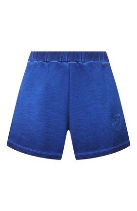 Женские хлопковые шорты OPENING CEREMONY синего цвета, арт. YWCI001S21FLE001 | Фото 1