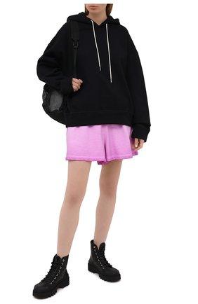 Женские хлопковые шорты OPENING CEREMONY розового цвета, арт. YWCI001S21FLE001 | Фото 2