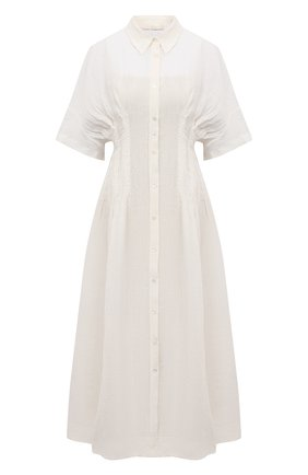 Женское льняное платье TELA белого цвета, арт. 01 0172 01 0015 | Фото 1