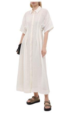 Женское льняное платье TELA белого цвета, арт. 01 0172 01 0015 | Фото 2