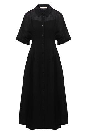 Женское льняное платье TELA черного цвета, арт. 01 0172 01 0015 | Фото 1