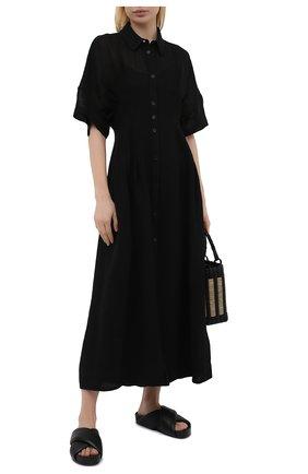 Женское льняное платье TELA черного цвета, арт. 01 0172 01 0015 | Фото 2