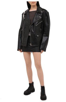 Женский хлопковый пуловер ISABEL BENENATO черно-белого цвета, арт. DK22S21 | Фото 2