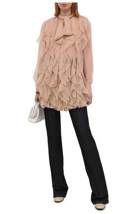 Женская шелковая блузка VALENTINO бежевого цвета, арт. VB0AB2F02UP | Фото 2