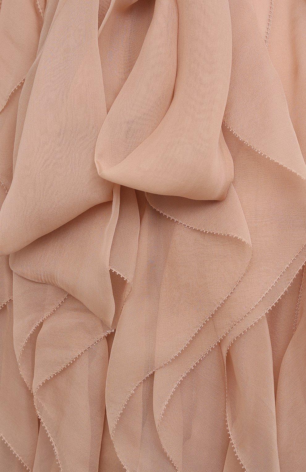 Женская шелковая блузка VALENTINO бежевого цвета, арт. VB0AB2F02UP | Фото 5