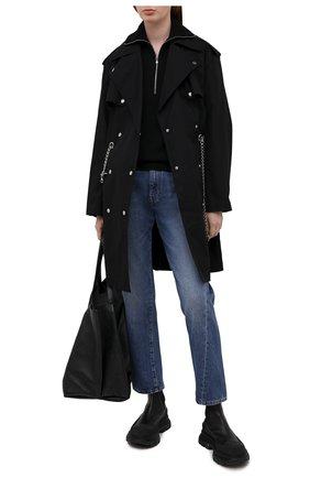 Женский хлопковый тренч MICHAEL MICHAEL KORS черного цвета, арт. MS1200BDTY | Фото 2