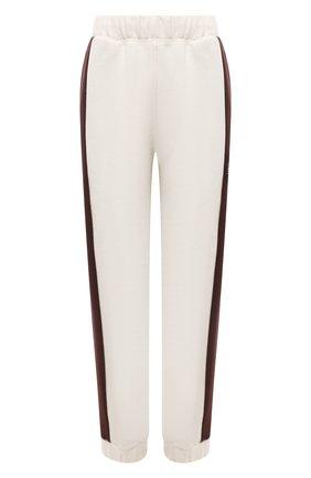 Женские хлопковые брюки GANNI светло-бежевого цвета, арт. T2928 | Фото 1