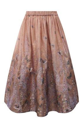 Женская юбка из льна и шелка ZIMMERMANN розового цвета, арт. 1063SLMI | Фото 1